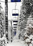 Abundant ski lift at Lake Tahoe