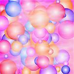 disco balloons with smoke