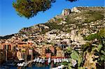 Panoramic view of the Mediterranean coastline