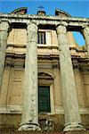 Basilica di Massenzio located in Roma, Italia.  Ancient Roman ruins in Rome, Italy are amazing and a great tourist destination.