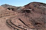 Mine railroad in a California ghost town