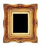 Golden portrait frame with luxury engrave work