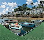 the estuary of the river fowey town of fowey south cornish coast cornwall england uk
