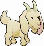 A cute goat farm animal vector illustration