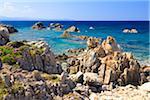 Rock Formations at Baia Santa Reparata, Santa Teresa Gallura, Province Olbia-Tempio, Sardinia, Italy