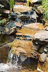 waterfall water stream close up view, Phuket, Thailand