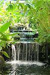 small waterfall close up view at Phuket, Thailand