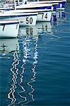 sailboats in marina / beautiful reflections