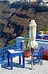 A restaurant at Santorini Island, Greece