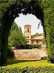 Arc of Alhambra garden (Andalousia, Spain, Europe)