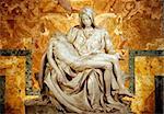 Michelangelo's Pieta in St. Peter's Basilica in Rome. c 1498-99.