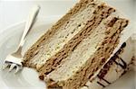 Coffee cream chiffon cake with icing