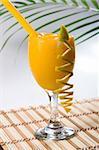 summer cold orange cocktail