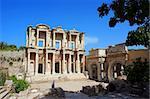 Facade of ancient Celsius Library in Ephesus