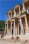 Facade of ancient Celsius Library in Ephesus, Turkey