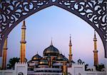 Crystal Mosque or Masjid Kristal in Kuala Terengganu, Terengganu, Malaysia, Asia during sunset.