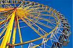 Closeup of a ferris wheel at Bavarian Oktoberfest