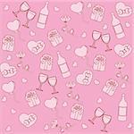 Seamless pattern with st. valentine stuff. Vector illustration
