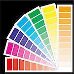 Color guide chart, cmyk rainbow background, part 4, vector illustration