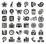 Retro styled web icon set