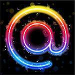 Vector - Internet Symbol Rainbow Lights  Glitter with Sparkles