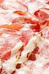 photo shot of dried ham
