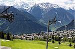 details of skiing resort, Swiss Alps, Verbier, Switzerland