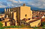 A view of Santa Maria de Montblanc church, Spain