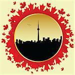 vector cityscape of Toronto