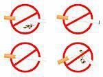 "Set sign ""No Smoking"" - vector"