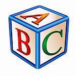 illustration of alphabetical game