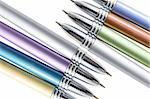 Close Up of Ballpoint Pens