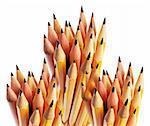 Close Up of Bundles of Pencils