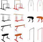 gymnastic equipment - vector