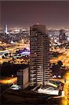 Night city, Tel Aviv at night, New luxury  project - North Tel Aviv