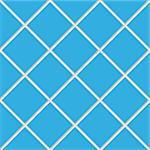 blue seamless ceramic tiles, abstract diagonal texture; vector art illustration