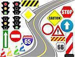 Traffic sign icon for web design, vector illustration