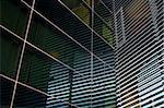 Modern glass building exterior fragment