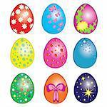 Easter eggs, Happy Easter Clip Art. Illustration on white