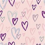 Stylish cartoon love pattern in vector