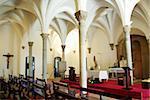 Interior of Mertola church, Portugal.