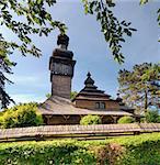 Uzhhorod, Church of the Holy Archangel Michael. Originally located at Shelestovo near Mukachevo, relocated to the Museum of Folk Architecture in Uzhhorod in 1974. Built 1777, greek-catholic