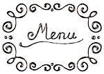 Chocolate menu frame, isolated on white background
