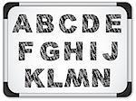 Vector - Black Alphabet on Whiteboard