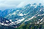 Summer (June) Alps mountain (view from Grossglockner High Alpine Road)