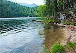 Beautiful summer Alpine  lake Toplitzsee view (Austria)