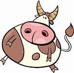 cartoon Illustration of taurus zodiac sign