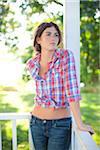 Portrait of Young Woman, Eugene, Lane County, Oregon, USA