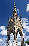 The Prince albert memorial in Hyde Park, London.