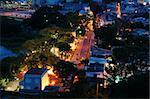The vista of Taipa village in evening with street lights, Macau